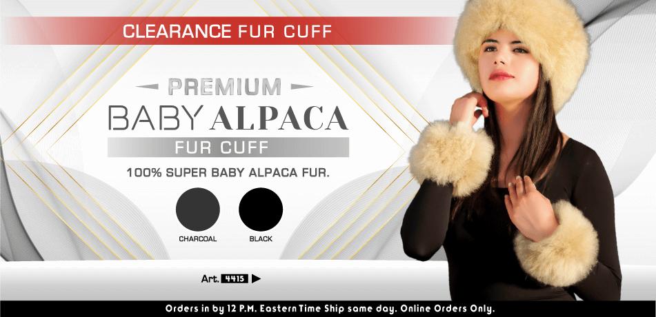 Clearance Fur Cuff | Classic Alpaca