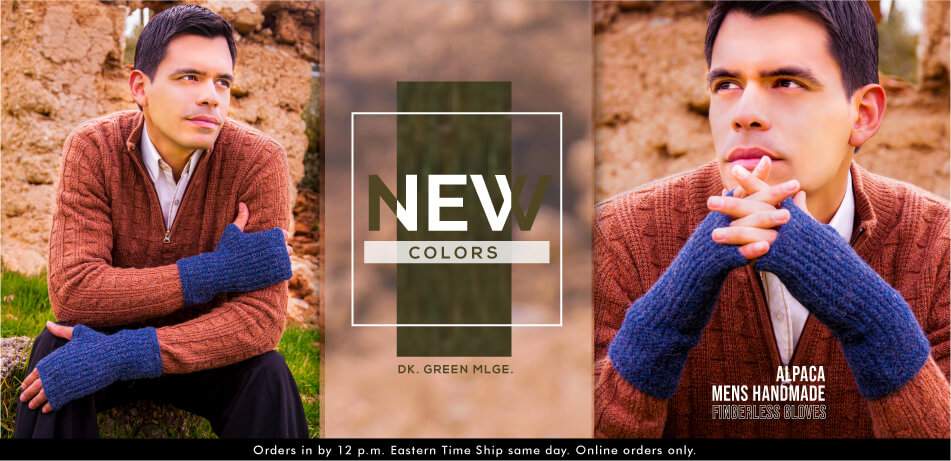 Alpaca Men Handmade | Fingerless Gloves