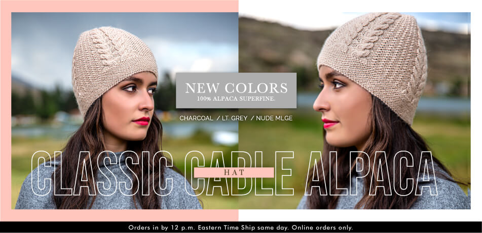 Classic Cable Alpaca Hat | Alpaca Accessories
