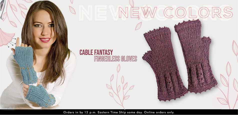 Cable Fantasy Fingerless Gloves | Alpaca Accessories