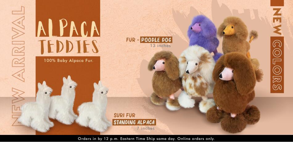 Fur Poodle Dog 13 Inches | Alpaca Teddies & Friends