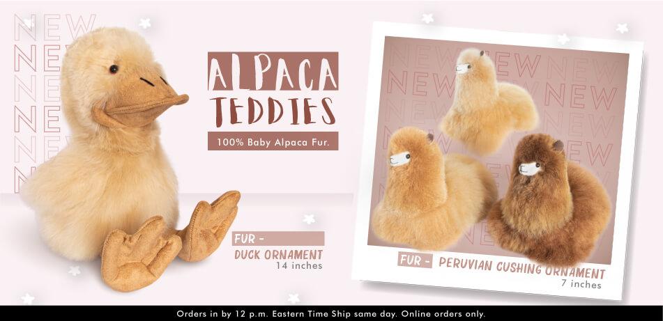 Fur Duck Ornament | Alpaca Fur Toys