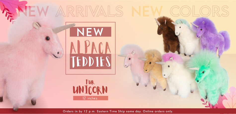 New Alpaca Teddies | Fur Ornaments
