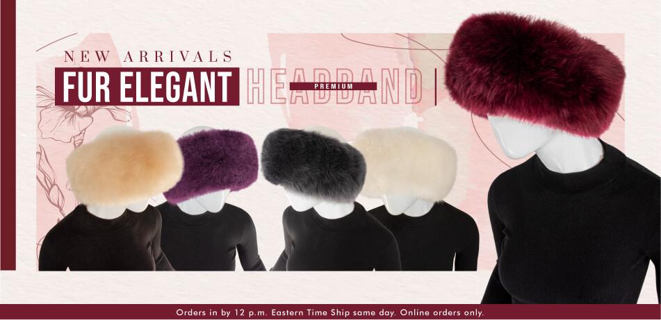 PREMIUM Baby Alpaca Fur Elegant Headband | Alpaca Accessories