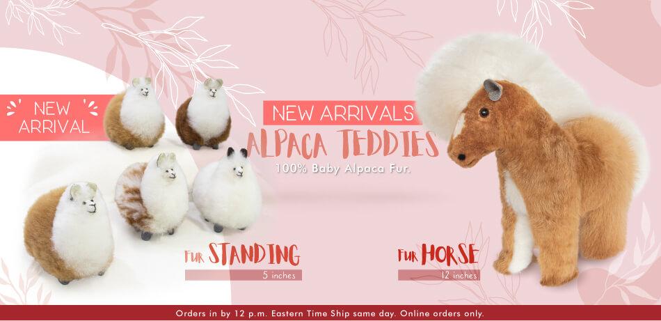 Fur Standing Alpaca & Fur Horse | New Arrivals Alpaca Teddies
