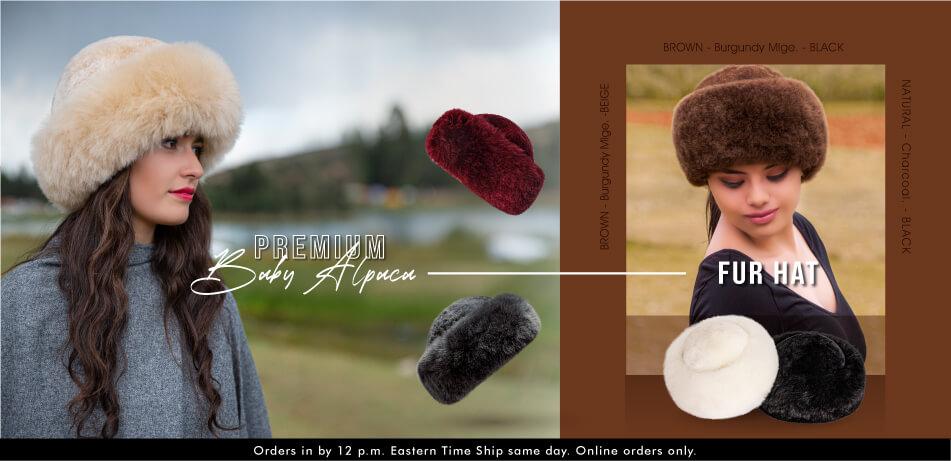 Premium Baby Alpaca Fur Hat | Alpaca Fur Hats