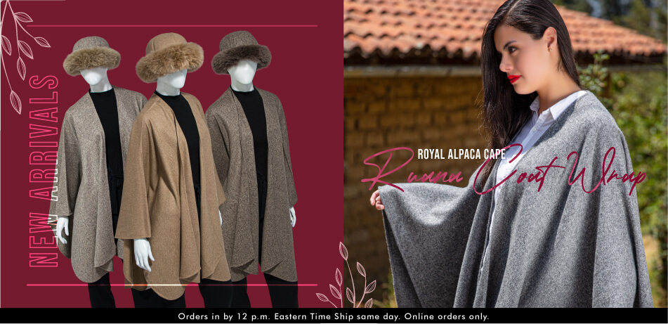 Royal Alpaca Cape | Ruana Coat Wrap