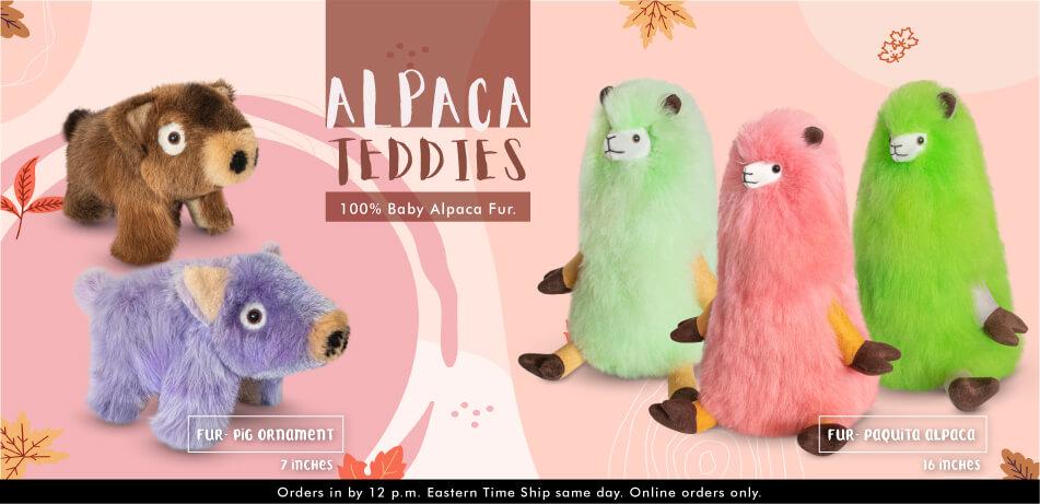 Alpaca Teddies | Alpaca Pig Ornaments, Paquita Alpaca