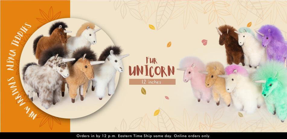 Fur Unicorn 12 Inches