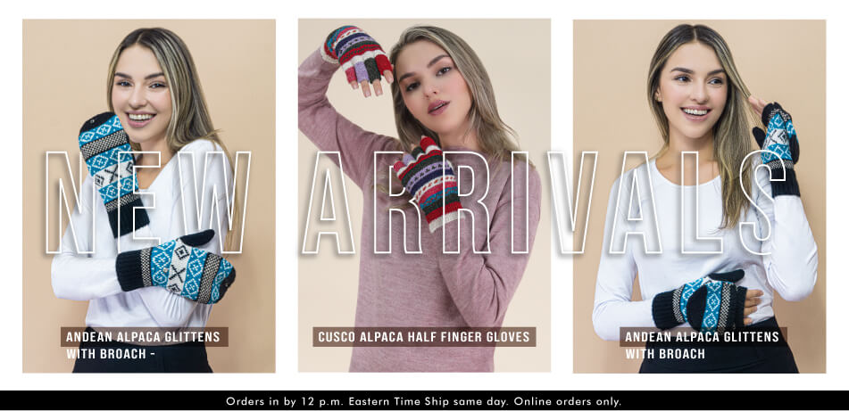 New Arrivals | Cusco Andean Alpaca Glittens and Gloves