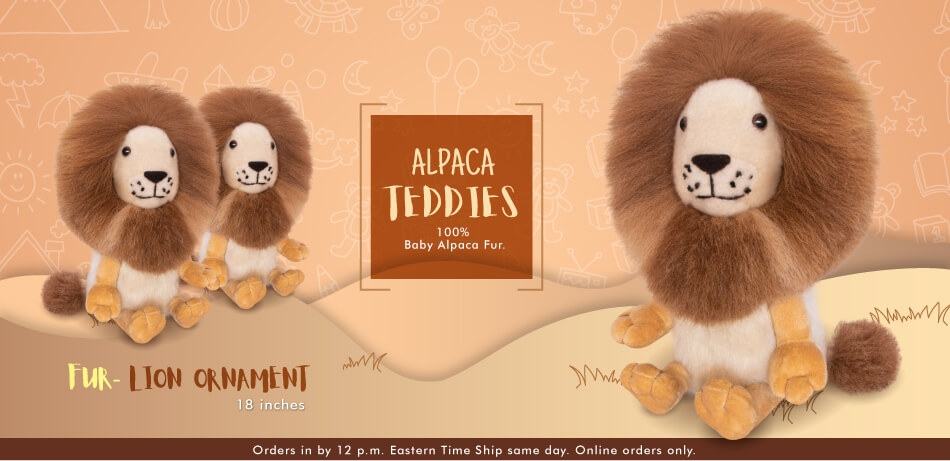 Baby Alpaca Fur-Lion Ornament 18