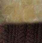 Brown Mlge.-FurBeige Diamond Cable Alpaca Fur Hat