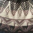 Beige-Brown Mlge.-Henna Reversible Alpaquita Knit Hat