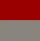 Grey-Red Ladies Reversible Alpaca Toggle Coat with Fur