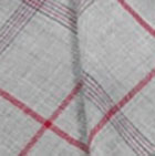 Lt.Grey Woven & Brushed Double Plaid Baby Alpaca Throw