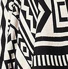 Black-Natural Moche Baby Alpaca Long Cardigan