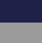 Dk.Royal Blue-Grey Melange Ladies Reversible Alpaca Toggle Coat with Fur