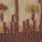 Beige Embroidered Garden Alpaca Gloves