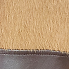 Alpaca Coat Leather Belt in Camel-Brown