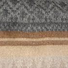 C0315-Camel/Grey/Charcoal Alpaca Cherokee Blanket
