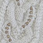 Natural Diana Cable Alpaca Mittens
