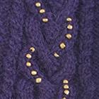 Purple Diana Cable Alpaca Mittens