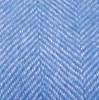 Blue Royal-Natural Woven & Brushed Herringbone Baby Alpaca Throw