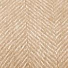 Hazelnut-Natural Woven & Brushed Herringbone Baby Alpaca Throw