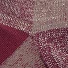 Mixt. Burgundy-Beige Alpaca Omni Hiker Unisex Socks