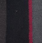 Black-Charcoal  Royal - Silk Striped Dress Socks