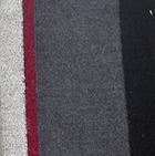 Charcoal-Silver  Royal - Silk Striped Dress Socks