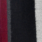 Black-Cardinal  Royal - Silk Striped Dress Socks