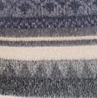 C0370-Charcoal-Beige Alpaca Cherokee Blanket