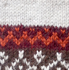 Winter Color Alpaca Fingerles Gloves in Lt. Grey-Multicolor