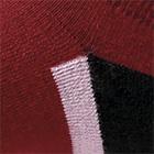 Burgundy-Black Sport Golf Socks