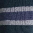 Denim-Dk.Teal-Silver Grey. Multi Striped Simply Alpaca Socks
