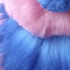 ALPACA Fur-Cotton Kandi Ornament 17 inches in Pink-Blue Royal