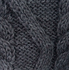 Charcoal Alpaca Long Cable Knit Sweater Dress