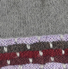 Justin Striped Alpaca Hat in Grey Mlge.-Multicolor