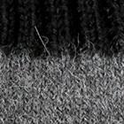 Grey Mlge.-Black Tassel Baby Alpaca Hat