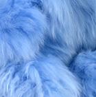 Powder Blue PREMIUM Baby Suri Fur-Classic Ornament 12 inches