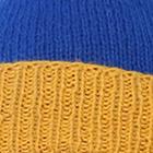 Blue-Yellow  Alpaca Kids - PomPom Hat