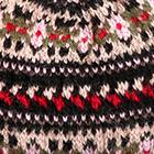 Black Marguerite Baby Alpaca Fingerless Gloves Long