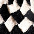 Black-Natural Patchwork Knit Alpaca Hat