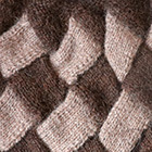 Brown Mlge-Sand Mlge. Patchwork Knit Alpaca Hat