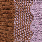 Vicuna-Lilac Mlge. Waves Baby Alpaca Infinity Scarf