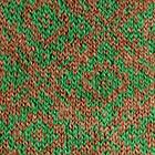 Cinnamong Mlge.-Green Reversible Letcia Alpaca Hat