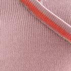 Lt. Rose-Coral Rose Cotton Baby Alpaca T-shirt Wrap Top