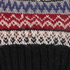 Black Fair Isle Alpaca Hat