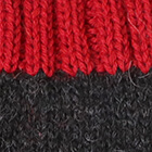 Charcoal.-Red Tassel Baby Alpaca Hat